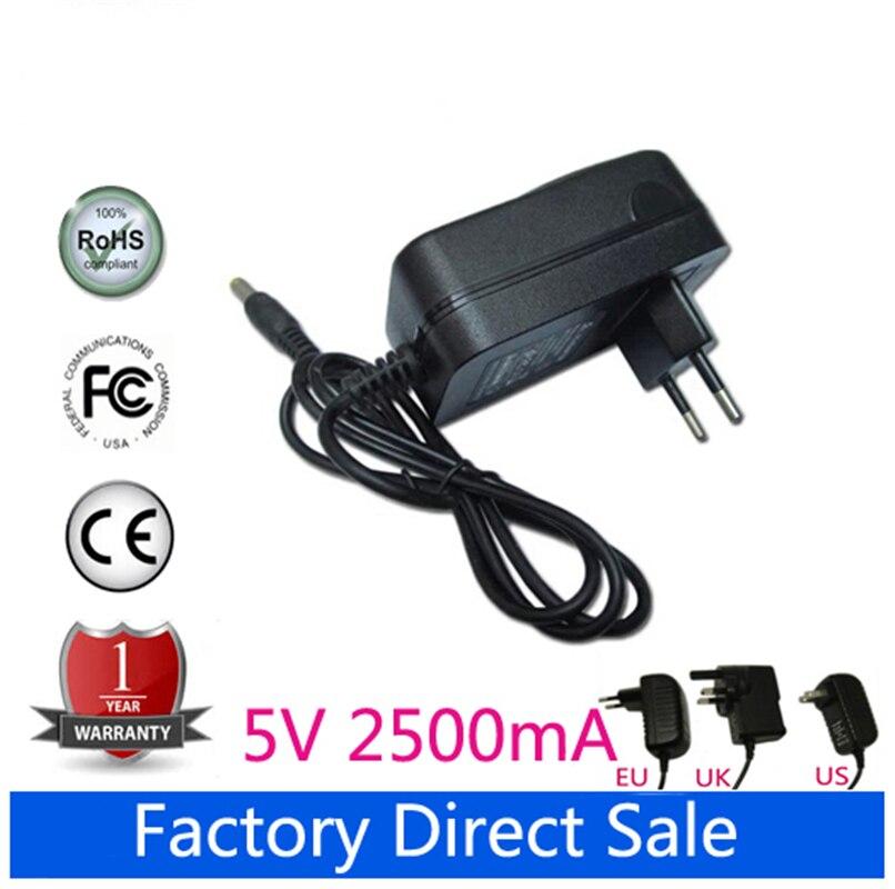 5 V 2.5A AC Power Adapter Carregador Para Prestigio 141A03 SMARTBOOK Tablet PC