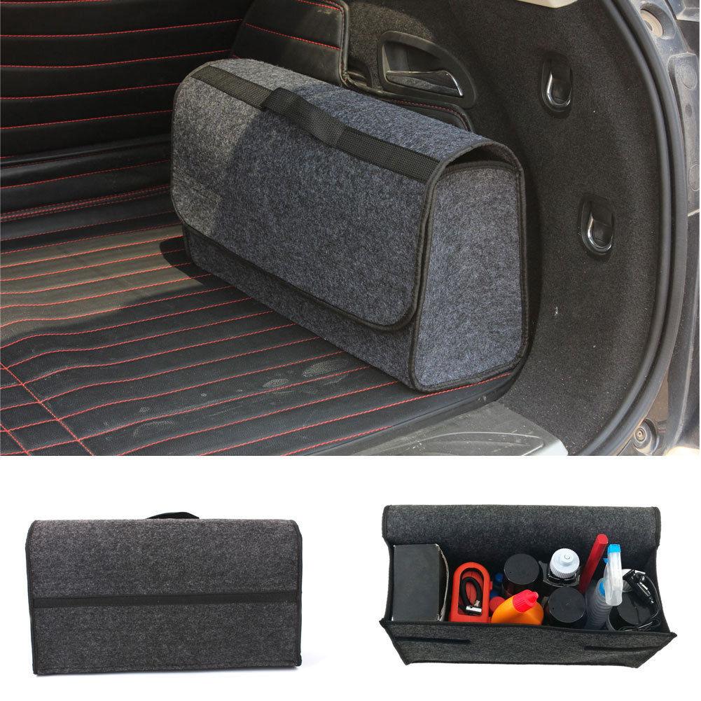 Большой серый Противоскользящий Автомобильный багажник отсек для хранения обуви Органайзер коробка сумка для хранения Чехол сумка для инструмента
