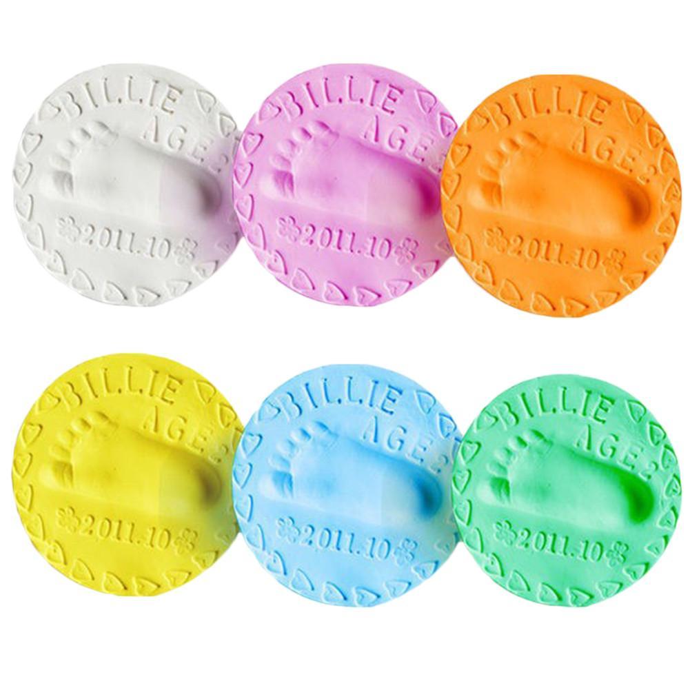 1 шт., детский набор для нанесения отпечатков пальцев, набор для нанесения отпечатков пальцев, мягкая глина для сушки на воздухе для детей и родителей