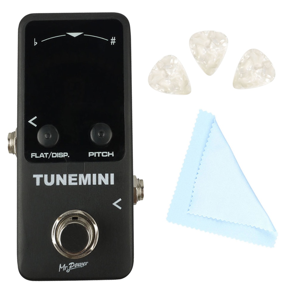 Mr.Power Tuner Mini Single Guitar Effect Pedal LED Display Chromatic Tuning for Tuner Pedal True Bypass LCD guitar accessories