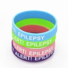 50 pçs médica alerta pulseira epilepsia silicone pulseira consciência braçadeira de silicone pulseiras & pulseiras para crianças atacado sh135k
