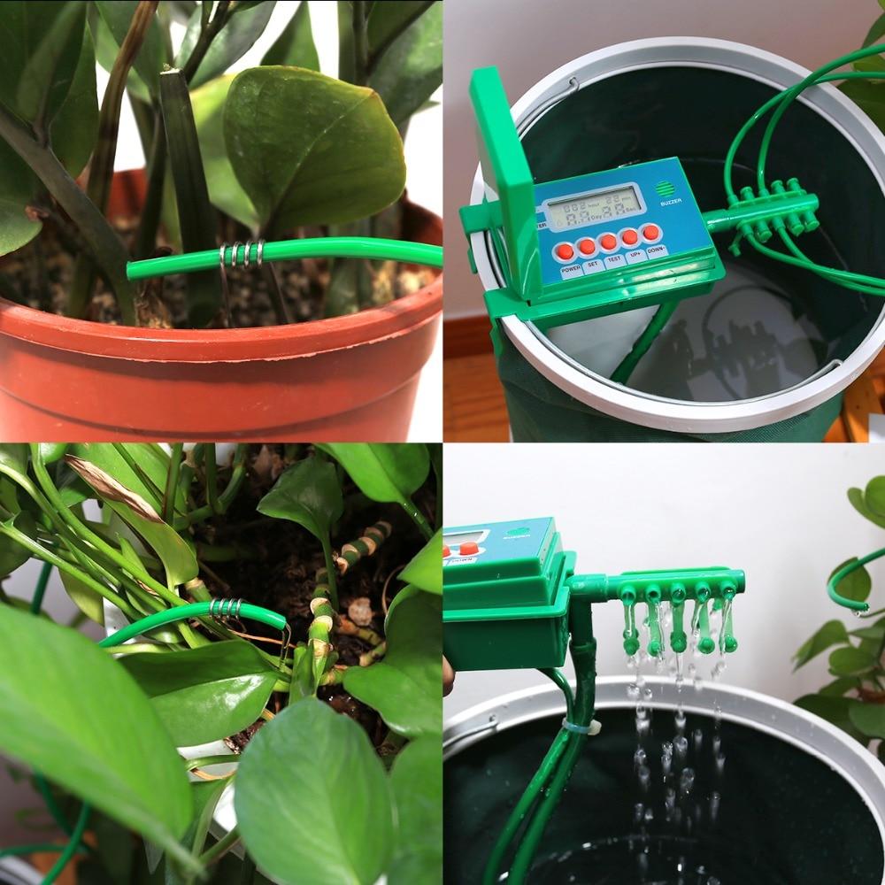 Automatische Mikro Hause Tropf Bewässerung Bewässerung Kits System Sprinkler mit Smart Controller für Garten, Bonsai Indoor Verwenden #22018