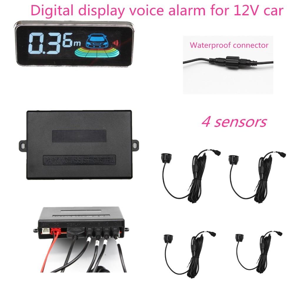 Система парковочной сигнализации с голосовым динамиком и ЖК дисплеем бесшовный