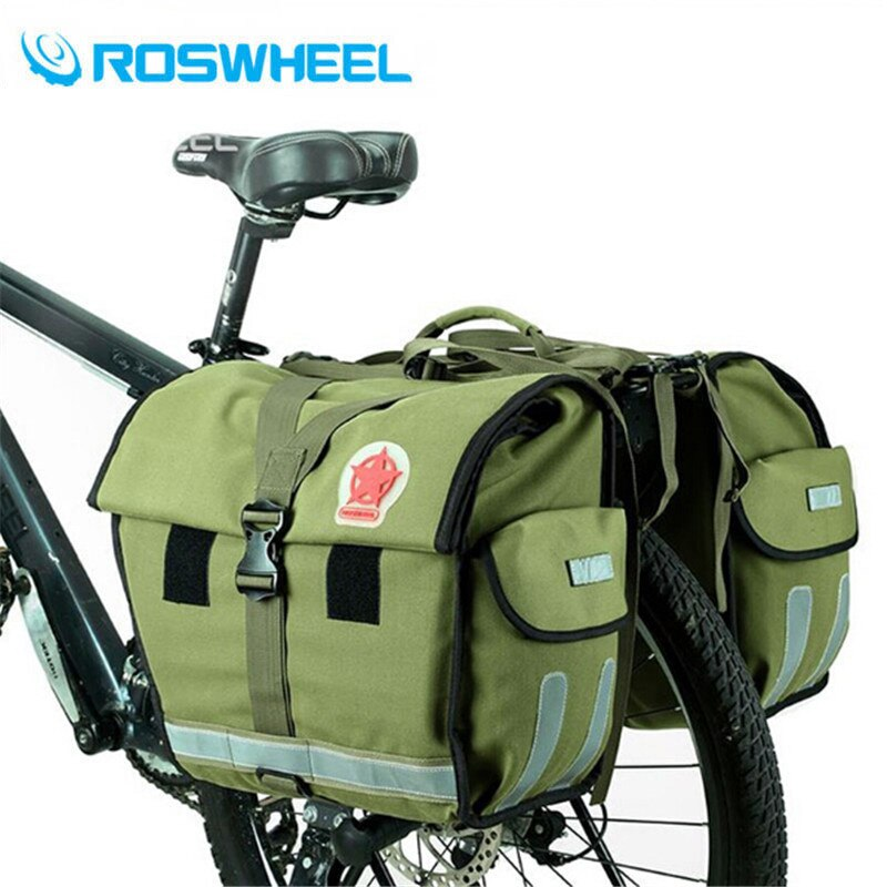 50L Bicicleta ROSWHEEL Pacote Kit Prateleira Mountain Bike Bag Camelo Bicicleta Pacote de Saco de Cauda Saco de Lona Apoio Equipamento de Ciclismo
