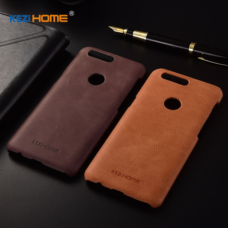 Para OnePlus 5 T funda KEZiHOME funda trasera dura de cuero genuino para teléfono OnePlus 5 T de 6,01 pulgadas protector casos coque