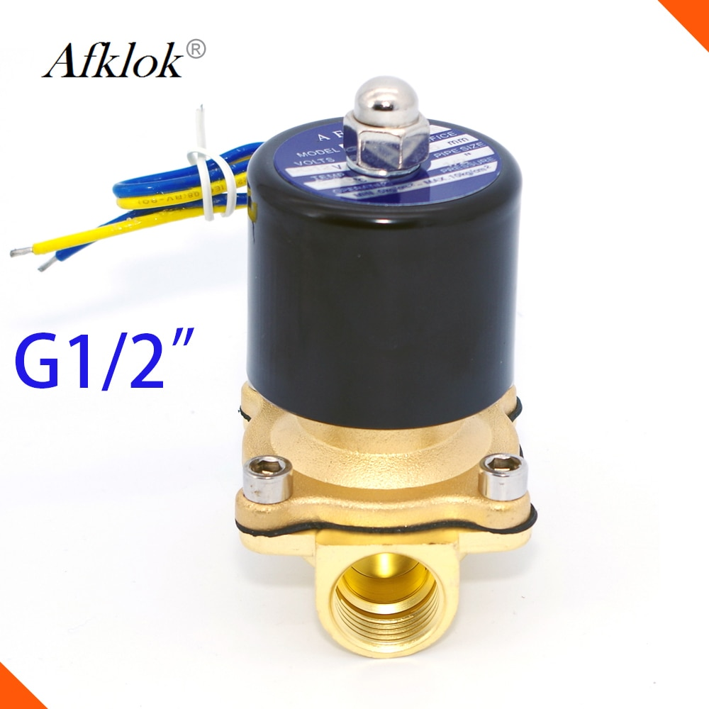 1/2 Polegada água diesel óleo de combustível válvula solenóide elétrica fechado 220v 110v 24v 12v viton selo