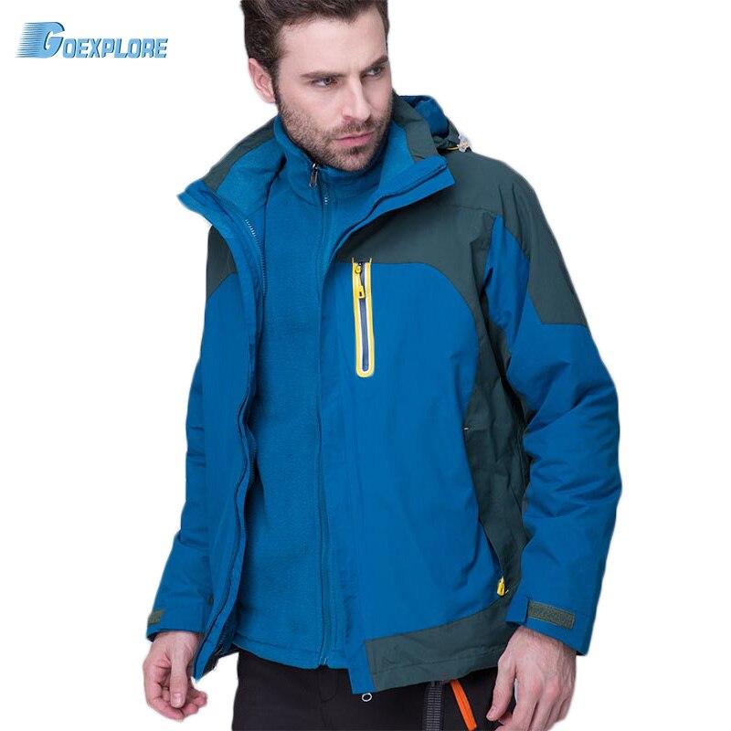 Chaqueta para exteriores para hombre de Goexplore, cazadora de doble capa transpirable, abrigo deportivo de invierno para hombre, chaqueta térmica para hombre