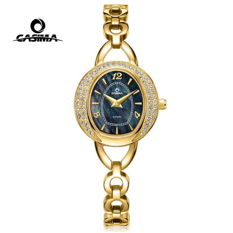 CASIMA Luxury Brand Women Watches Ladies Fashion Casual Waterproof Gold Bracelet Diamond Quartz Wristwatch 2021 Relogio Feminino enlarge