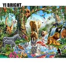 Peinture de diamant fantastique en 3D, bricolage, point de croix, Animal africain, couture décorative, mosaïque GT