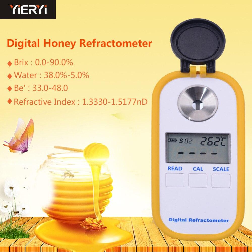 Refractómetro Digital DR301 con pantalla Digital, medidor del contenido de azúcar, refractómetro medidor de concentración de miel