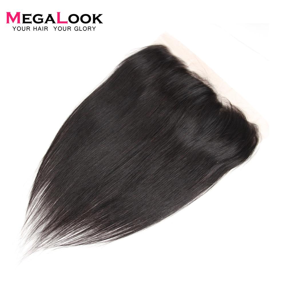 Cabello lacio Megalook, encaje Frontal de 10 a 22 pulgadas, cabello humano brasileño Remy 100%, encaje Frontal con cabello de bebé