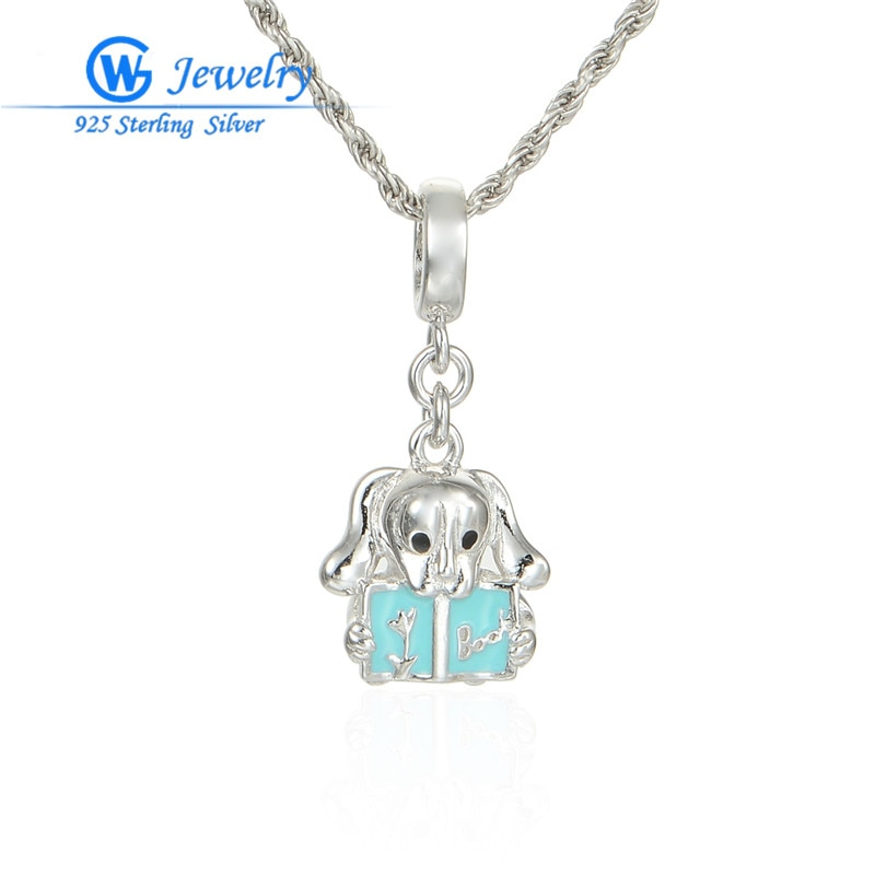 Diy 925 accesorios de joyería de plata abalorios ajuste pulsera collar DIY...