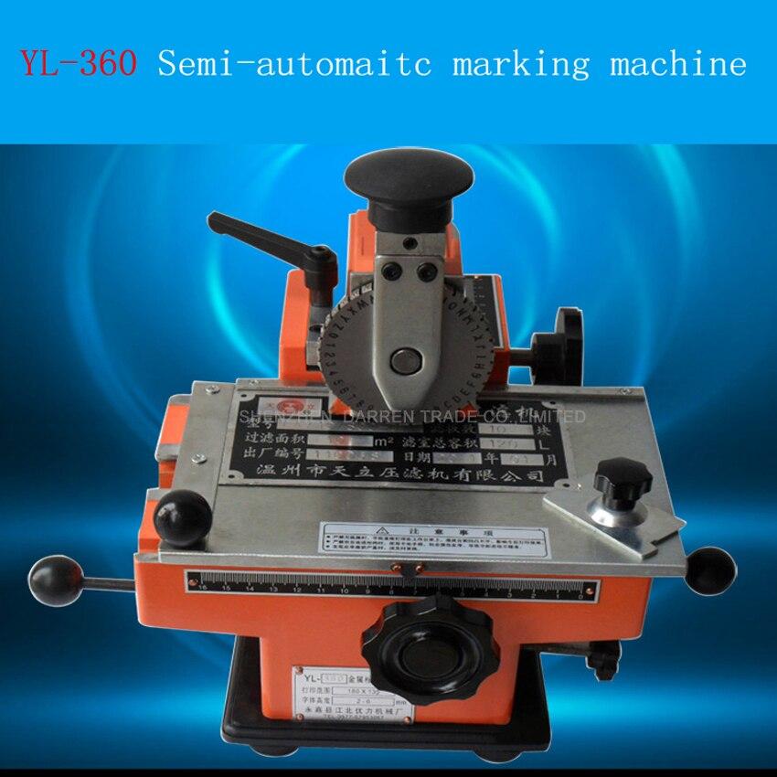YL-360 شبه التلقائي المعادن تسمية طابعة دليل آلة وسم الألومنيوم وسم الترميز آلة الصحافة آلة