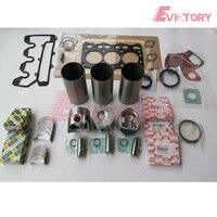 For Hiatch ZAXIS35U excavator 3LD2 piston +piston ring set +cylinder liner+bearing+3LD1 gasket kit