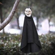 H & D pendentif de Halloween fantôme tête de mort effrayante   Personnage du diable des Elves, pendentif suspendu pour Halloween, accessoire de décoration de maison hanté