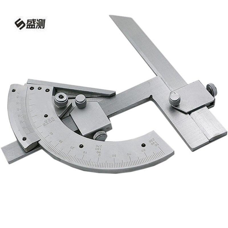 1 Uds. Medidor de ángulo de precisión Universal biselado de 320 grados, calibrador de longitud de Dial Angular, herramienta de mano de medición D1024