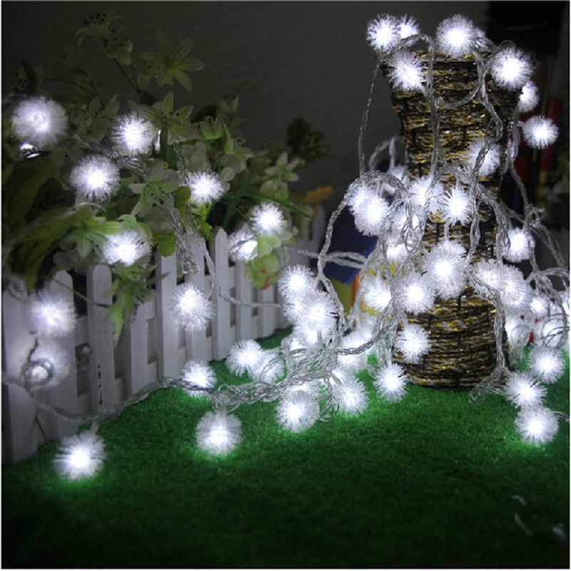 led commercial string 2w backyard outdoor street lighting lights holiday bulb grade string edison garden 10pcs with patio 10m LED String Lights 10M 100LED Furry Ball Snowflake colorful Christmas outdoor led string light 220V/110V Holiday garland
