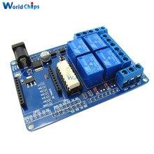 Módulo de relé de 4 canales 5V Placa de extensión Escudo de relé V1.3 Compatible para Arduino UNO R3 Xbee 315 relé de Electrónica Inteligente DIY