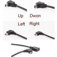 90 Degree 4 angle mini USB Female to Mini B 5 Pin Male cable Adapter