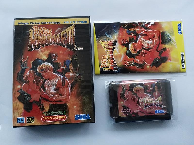 MD Game : Bare knuckle 3 ( Japan Version!! box+manual+cartridge!! )