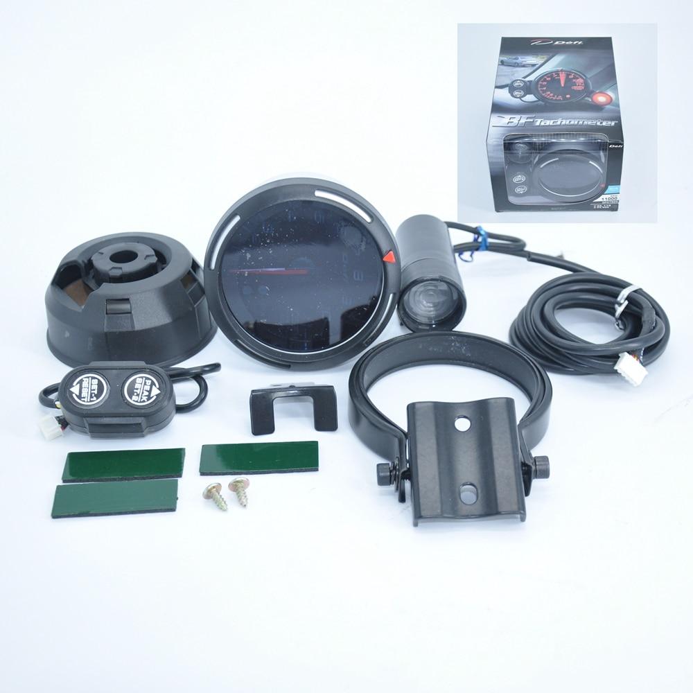 JK-tachymètre DEFI moteur Stepper   80mm DEFI moteur BF Style BF RPM jauge automatique, bleu Led avec lumière de décalage