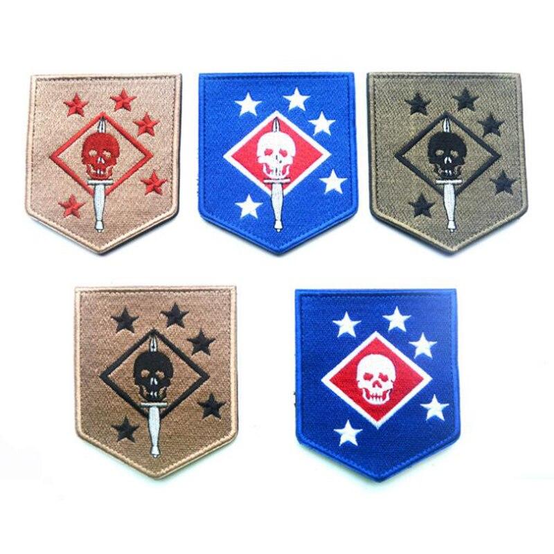 USMC / US Marine Corps Comando/MARINE/RAIDERS de insignia parche bordado, brazalete táctico militar, soporte de gancho de hebilla de nailon