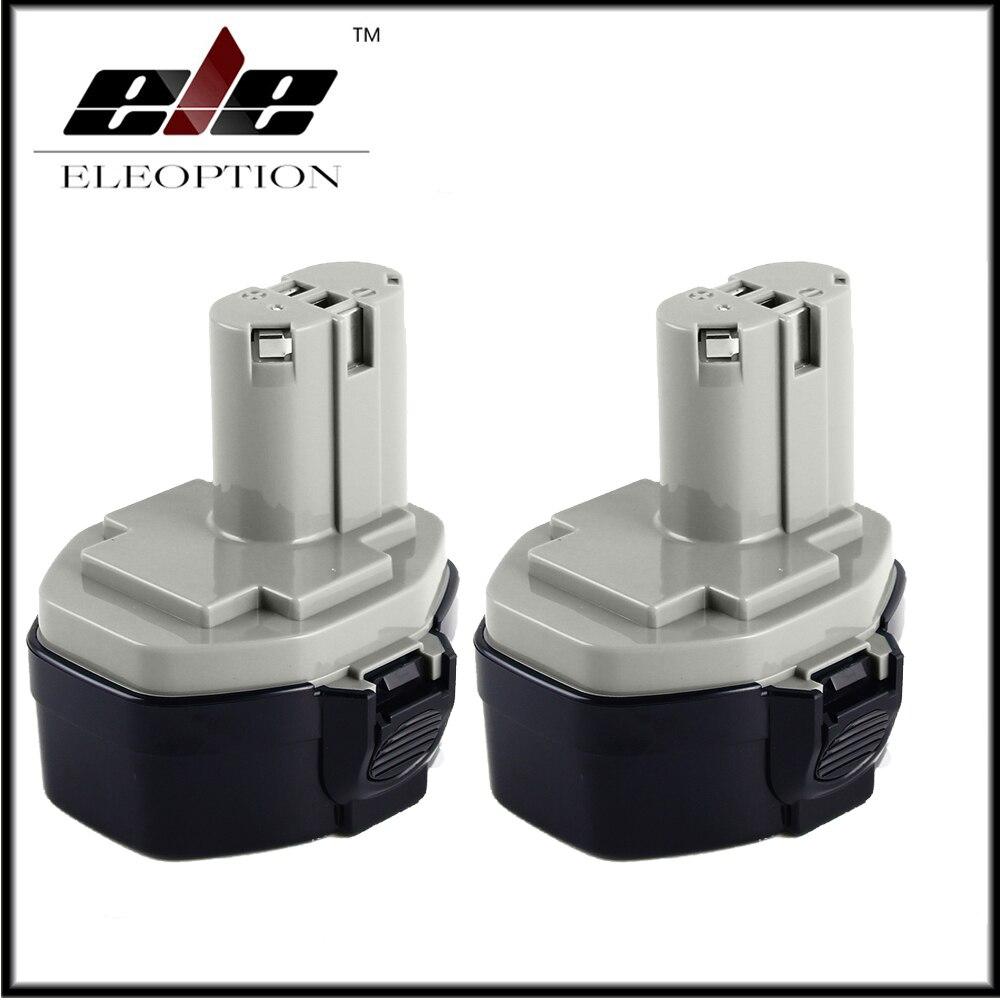 Ele Eleoption 2X14.4 V 3000 Mah 3.0AH Batteria per Makita 1420 1422 1433 1434 1435F 193158-3 14.4 V Strumento di Potere 3.0AH Ni-Mh