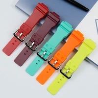 womens strap for casio resin strap g shock gma s110 gma s120 s130 mens rubber strap accessories