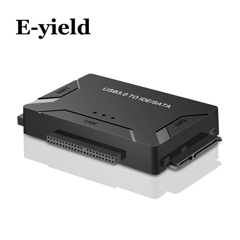 etmakit 2 5 3 5 inch sata to usb 3 0 hard disk driver ssd usb to sata hdd converter with power adapter for ios win7 win8 win10 USB 3.0 to SATA IDE ATA Data Adapter 3 in 1 for PC Laptop 2.5 3.5 HDD Hard Disk Driver With Power