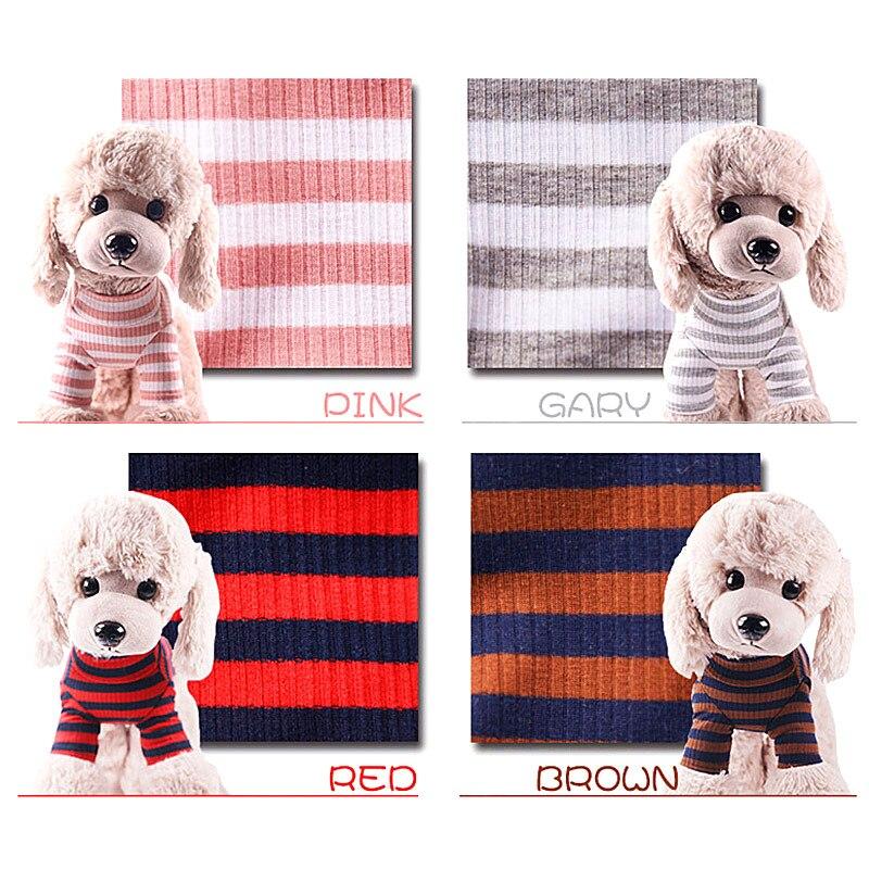 Ropa de perro para mascota DOGGYZSTYLE, camisa por el trasero elástica de invierno, chaleco para cachorros de compañía, sudadera a rayas, Disfraces para perros pequeños, Chihuahua