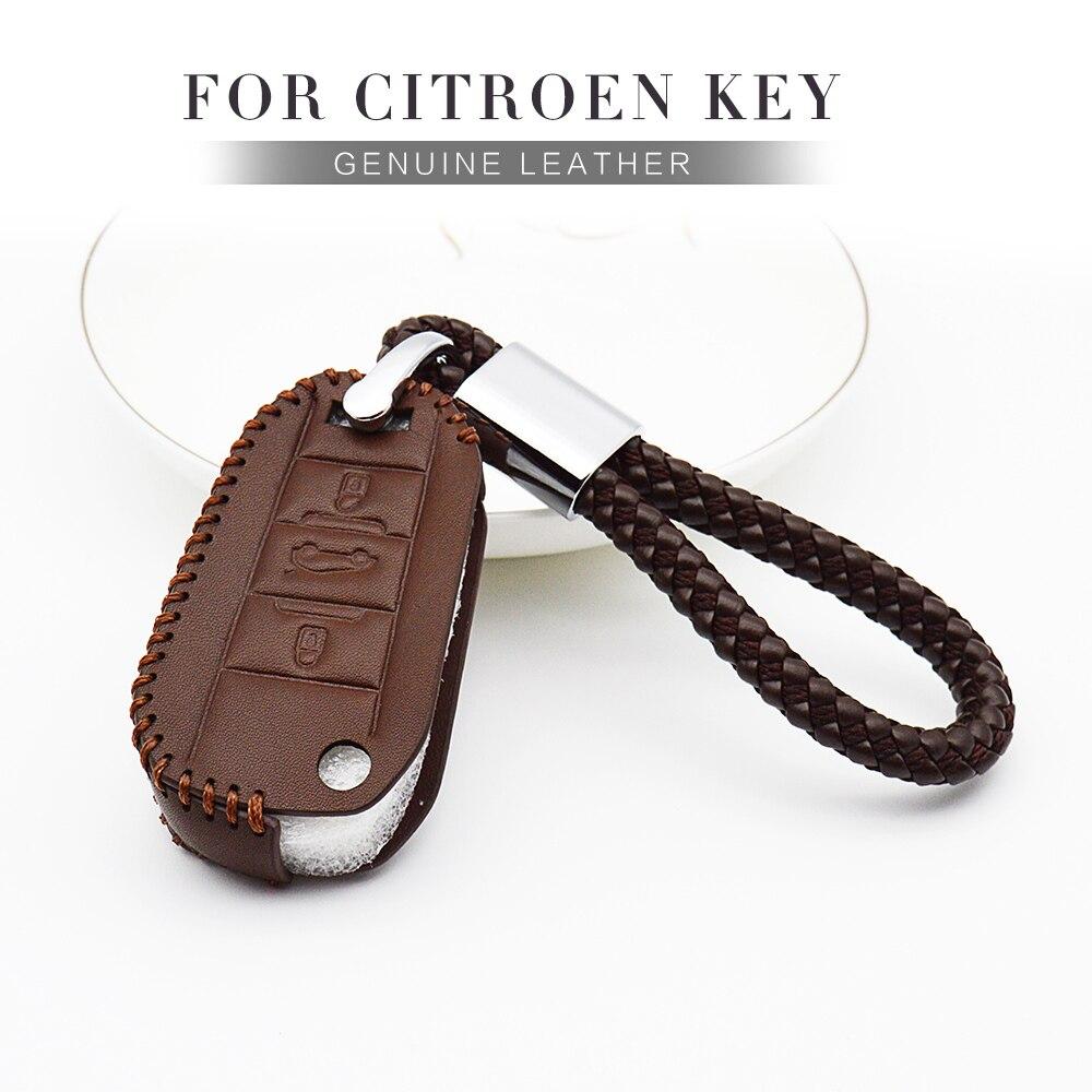 Автомобильный чехол для ключей Fob для Citroen C1 Berlingo C8 C3 C4 Cactus Xsara Picasso Ds3 Ds5 Ds4 C4L Geuine кожаный защитный чехол для ключа