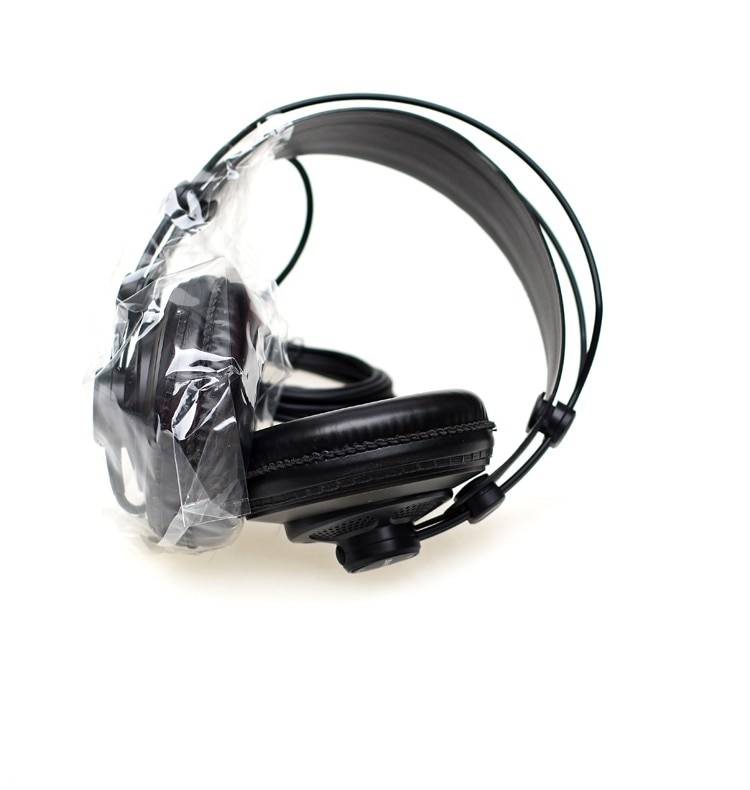 Original Samson SR850 monitoring HIFI headset Semi-Open-Back Headphones for Studio, with leather earcup,without retail box enlarge