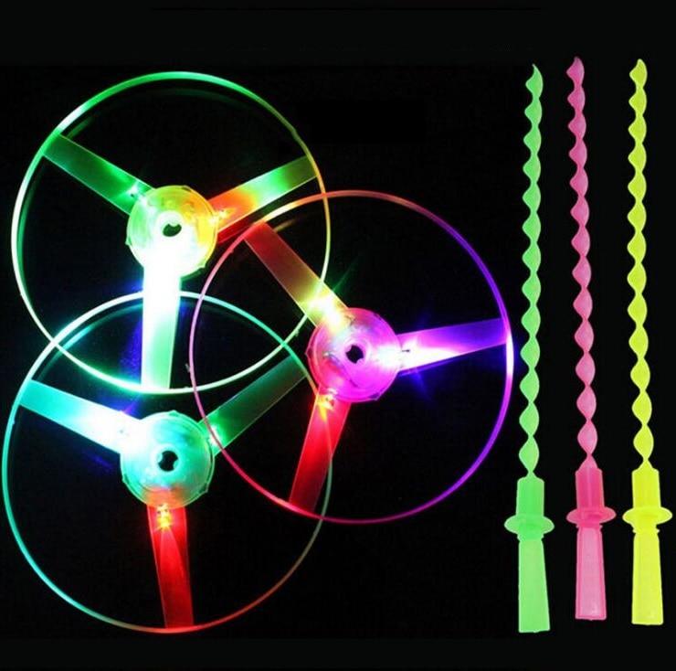 10 pièces/ensemble grand incroyable lumière LED flèche fusée hélicoptère rotatif volant jouet fête amusant cadeau, jouets sprots