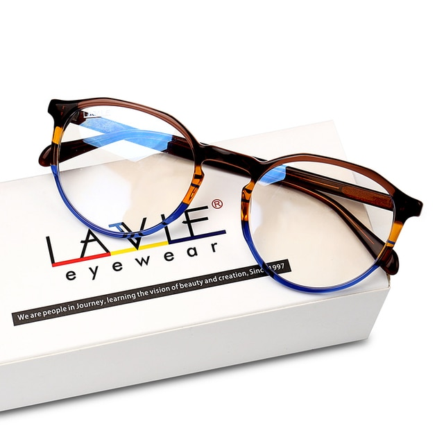 2020 New Design Handmade Acetate Glasses Fashion Colors EyeWear Frames for Young Women Girls Round Luxury Spectacle Prescription
