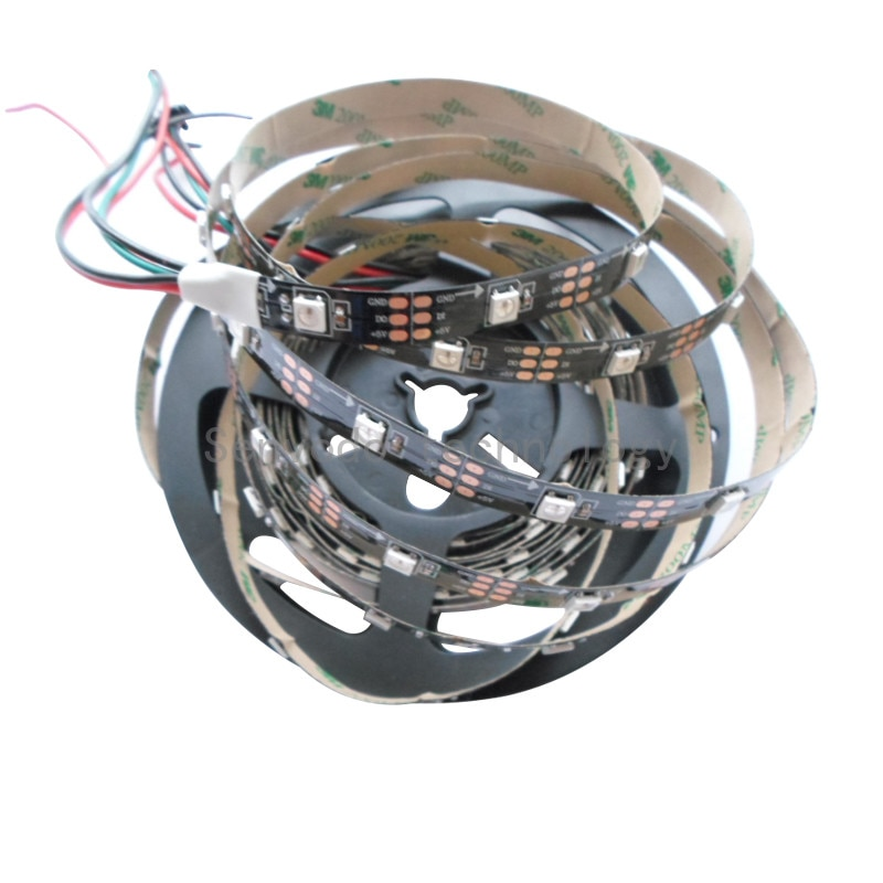 20mx apa104 endereçável 5050 rgb led strip 30/60/72/144led/m 5 m/roll controle tira conduzida individualmente express free grátis