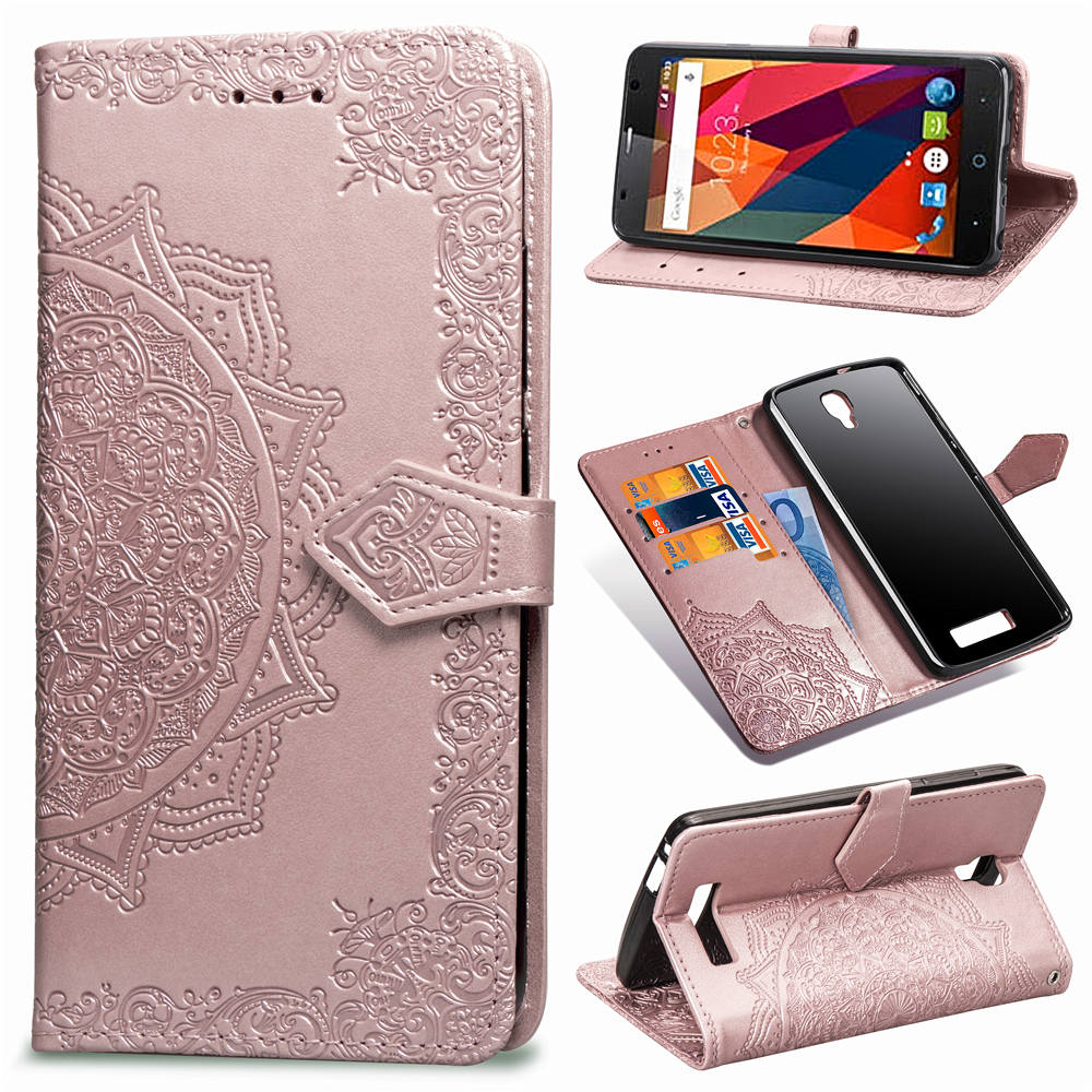 PU Leaterh Capa cubierta monedero plegable para ZTE Blade A510 caso L5 Plus Smartphone bolsa Funda caso para ZTE A610 caso Capa Coque