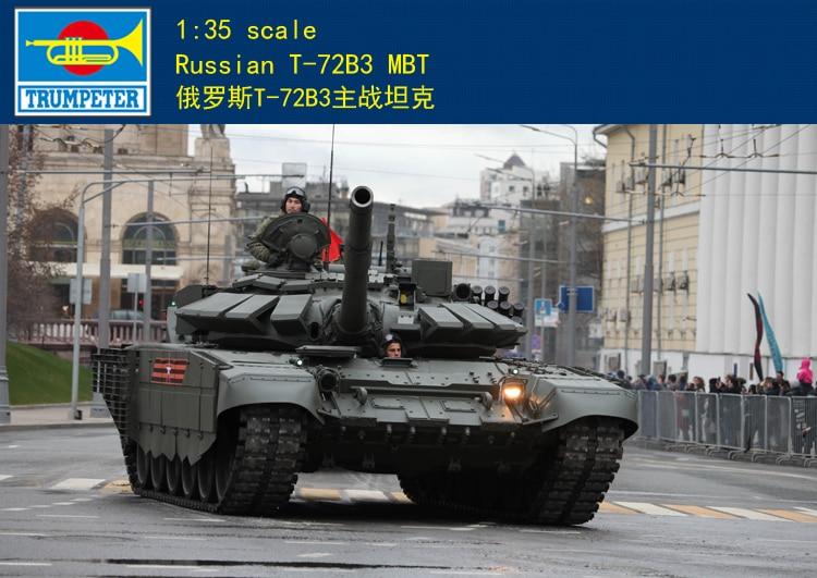Trompetista 1/35 rusa de 09561 T-72B3 MBT Mod 2016