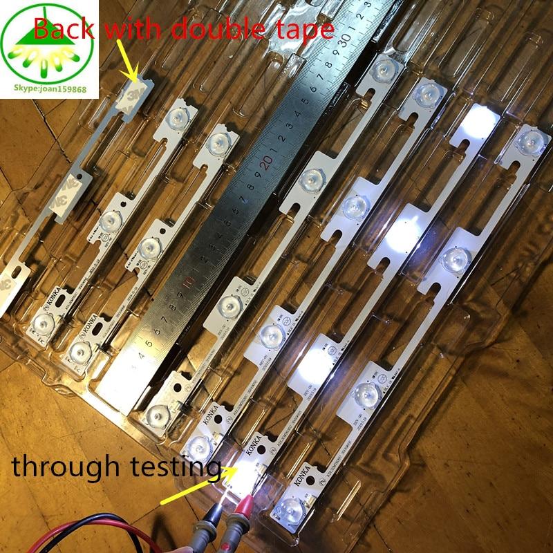 20 قطعة/الوحدة شريط شرائط LED أضواء العمل ل KDL32MT626U 35019055 35019056 10 قطعة * 4LED + 10 قطعة * 3LED 1LED = 6 فولت
