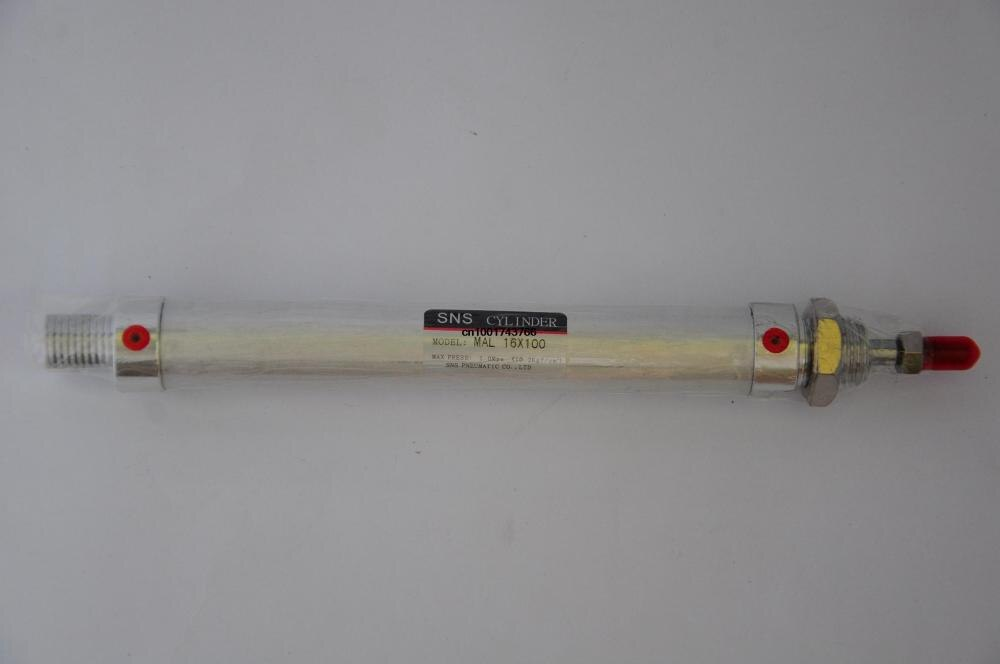 Диаметр 16 мм Ход 100 мм SNS pnematic цилиндр тонкий цилиндр MAL16 * 100 AIRTAC Тип MASL/MATL/MALD/MALJ регулируемый ход заказа