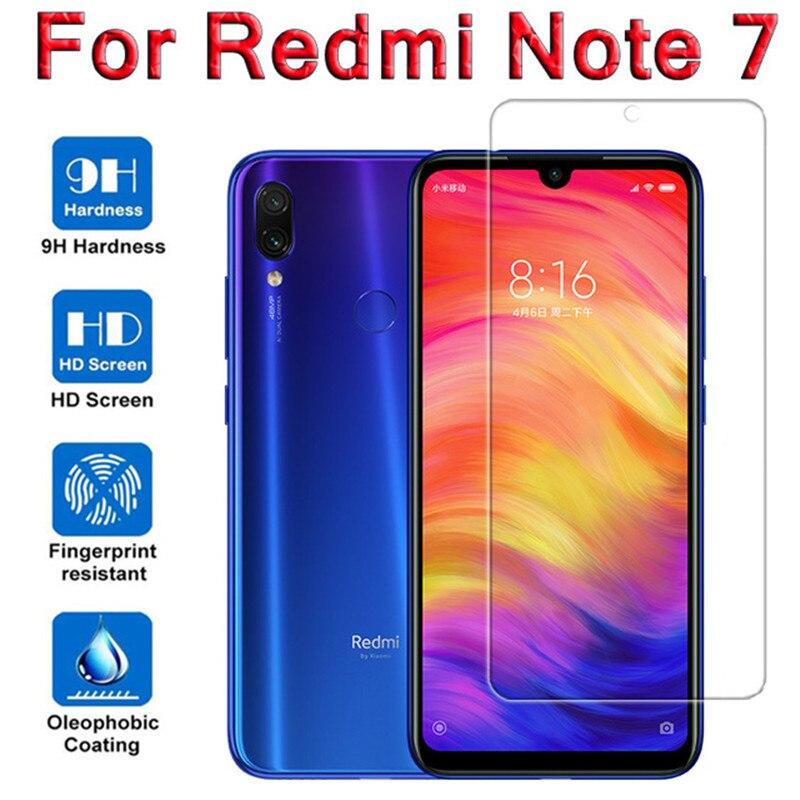De vidrio templado 9H para xiaomi redmi note 7 pro ir teléfono celular protector de pantalla completa redme note7 xiami xaomi xiomi xiaom de película glas