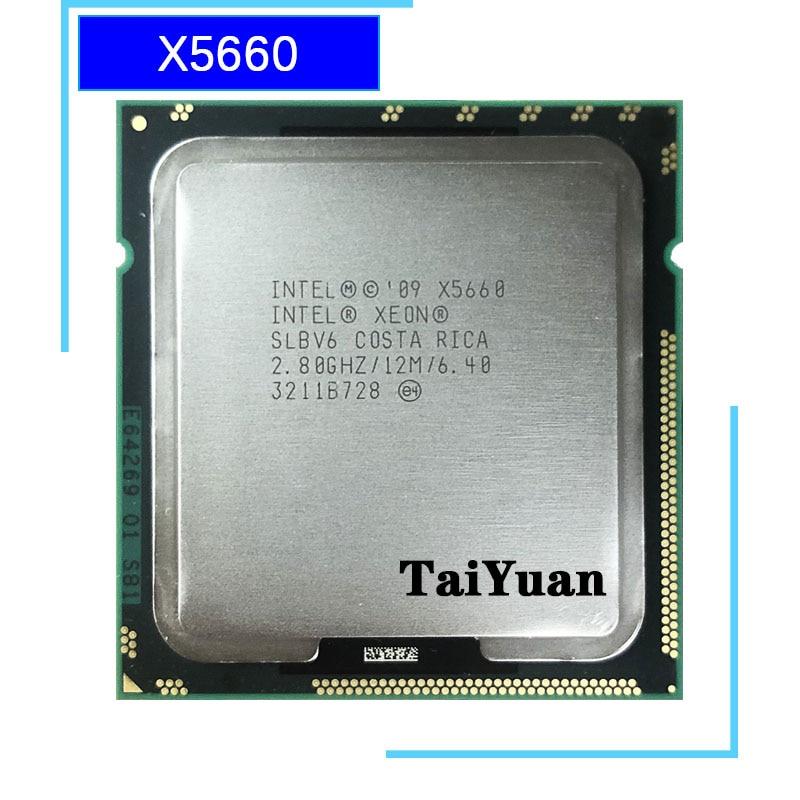 Intel Xeon X5660 2.8 GHz Six-Core Doze-Thread 12 M 95 W LGA Processador CPU 1366