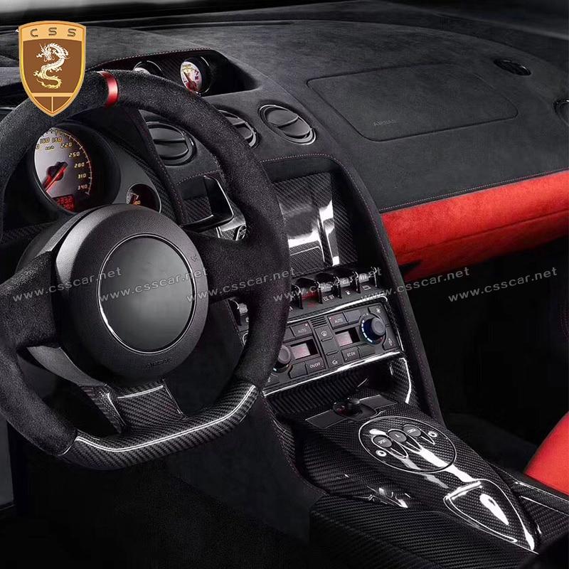 Carbone sec intérieur en Fiber de carbone pour LAMBO Gallardo Lp550 LP560 LP570 accessoires intérieurs Modification interne de voiture