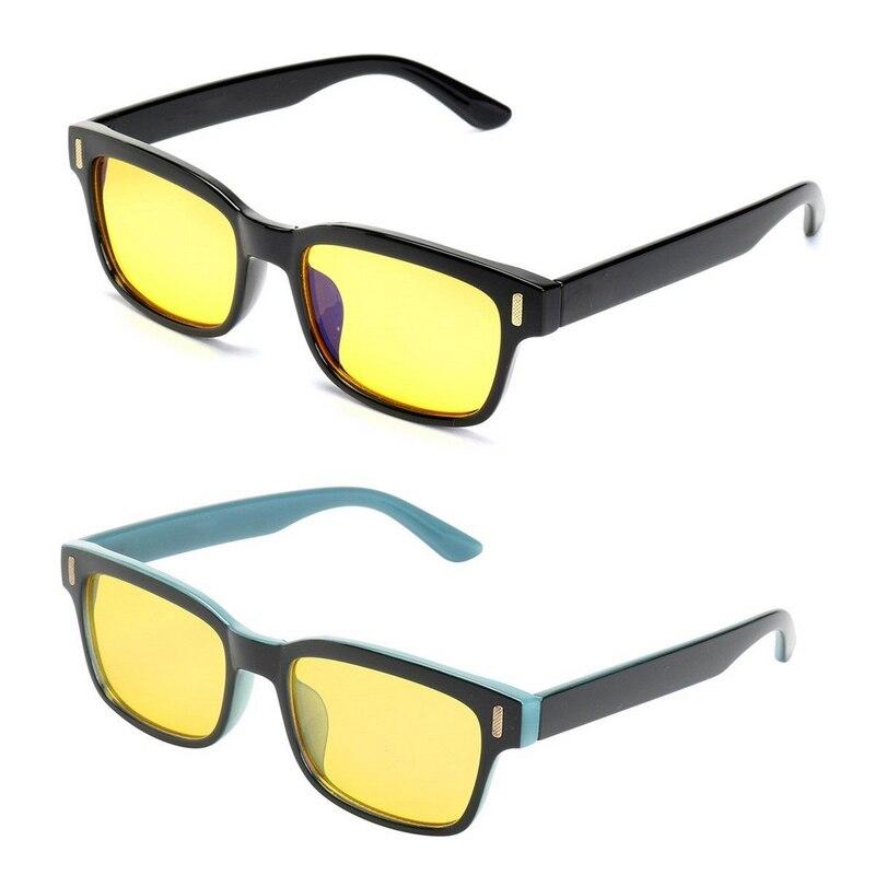 Mayitr 2 cores unisex anti luz azul radiação tv computador jogos óculos proteger olho para eyewear