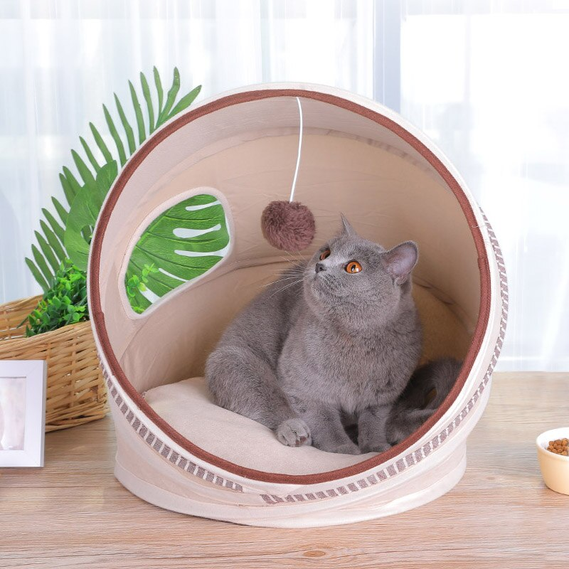 ¡HEYPET plegable Gato casa gato Cama Para Cachorro de perro gato perros forma redonda Cama tu gato amor!
