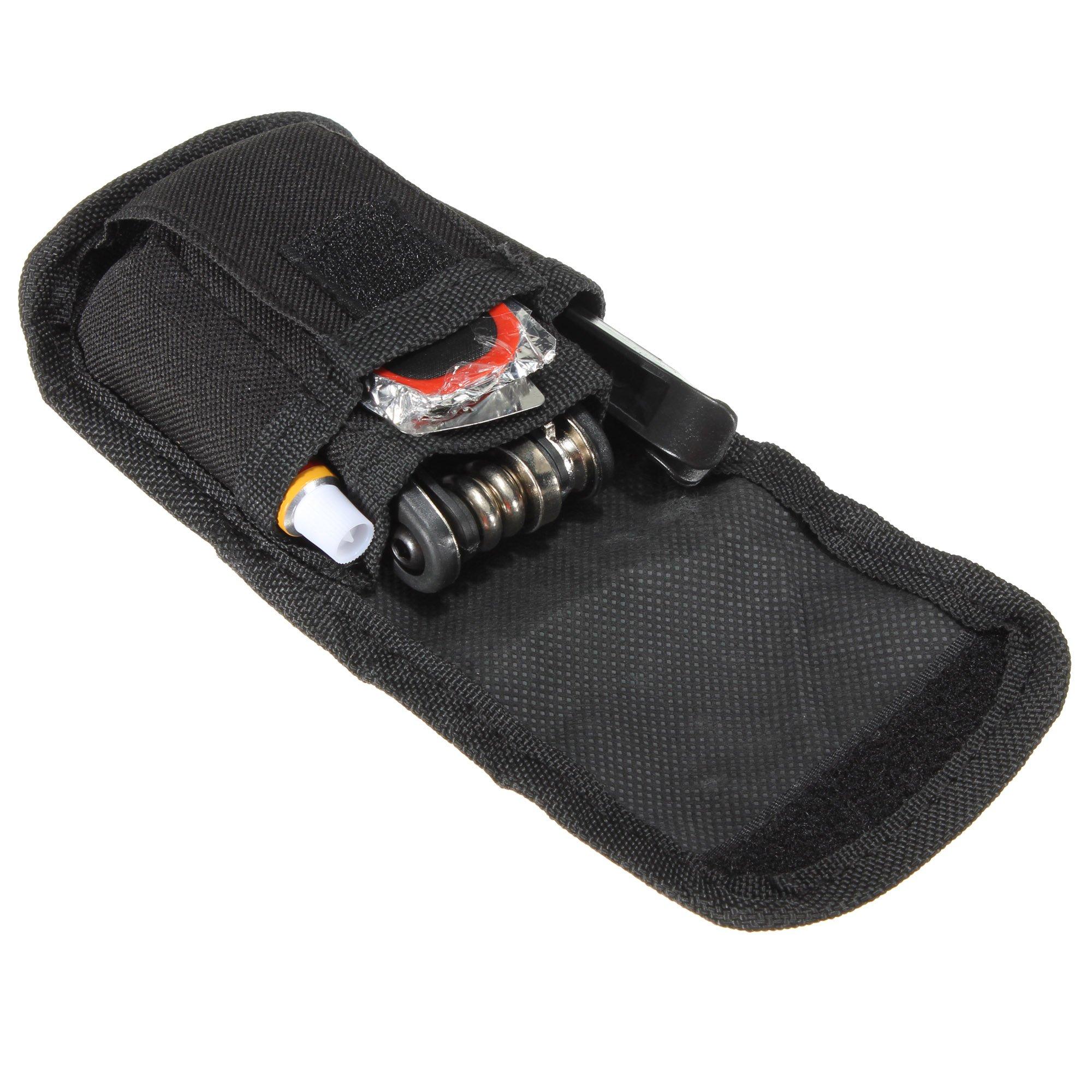 Kit de herramientas de bicicleta SAHOO, kit de reparación de neumáticos, parche de reparación + bolsillo