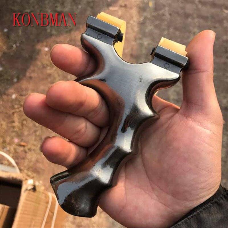 Powerful Catapult Slingshot shooting rubber band Zinc Alloy Bow Catapult Sling outdoor Hunting Alloy Slingshot Sling Shot