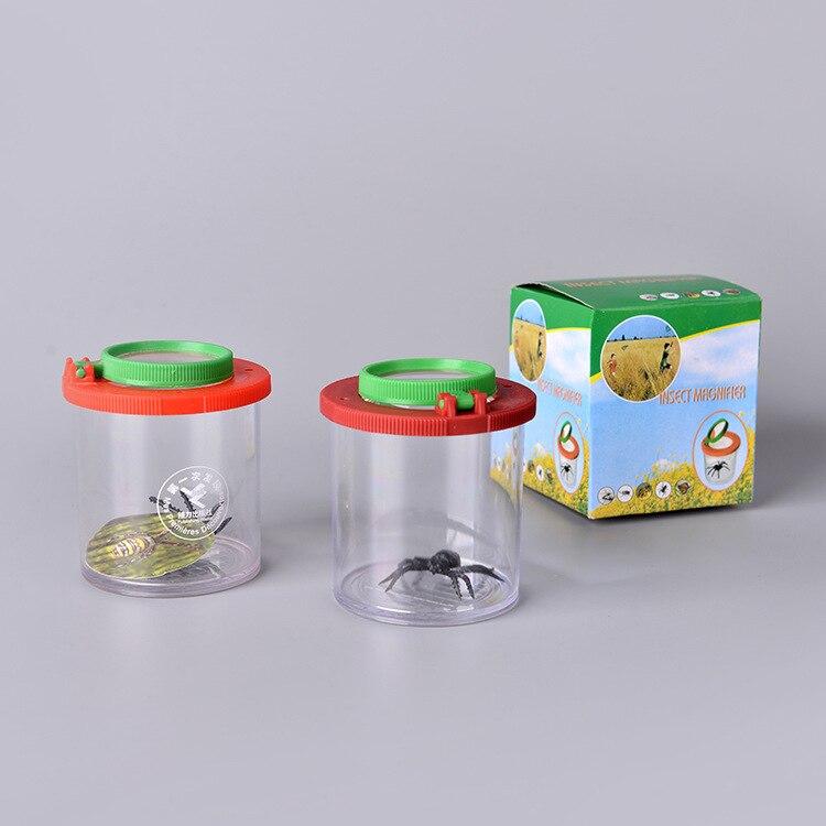 Caja con insecto lupa Visor de insectos Caja 2 lentes 4x lupa niños juguete entomólogos envío gratis