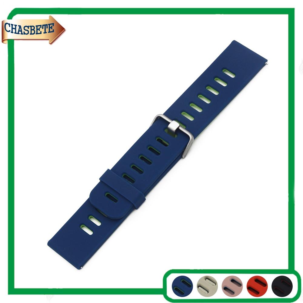 Silicona goma banda de reloj para luminox Correa 22mm hombres mujeres liberación rápida resina correa de muñeca pulsera de lazo negro azul