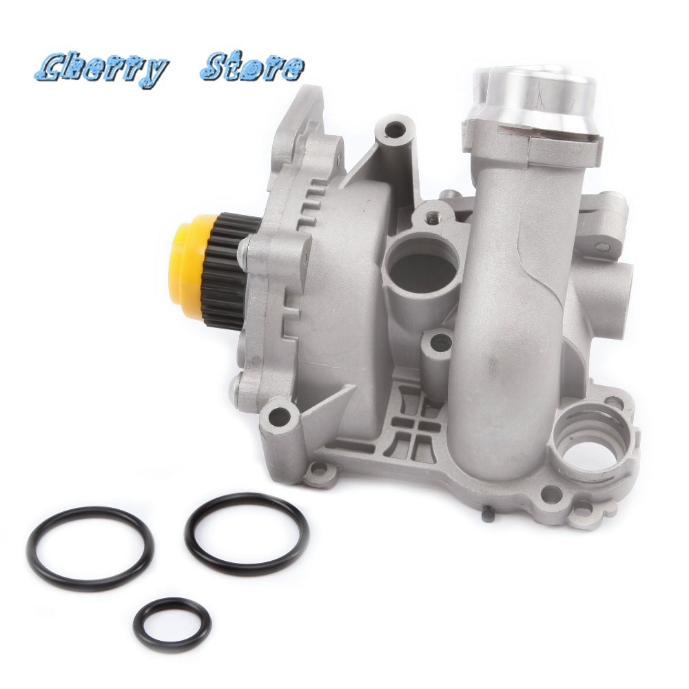 NEW 06H 121 026 DD Aluminum Water Pump Upgrade For Audi A4 A6 Q3 Q5 VW Passat Golf Jetta Tiguan Seat Skoda 2.0TFSI 06H121026CQ