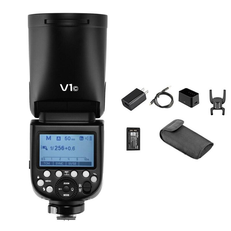 Godox V1 Flash V1C V1N V1S TTL 1/8000s HSS de la batería de litio de Speedlite Flash para Canon Nikon Sony TTL Li-Ion cabeza redonda Flash